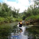 paddling on river