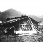 vintage photo of native home