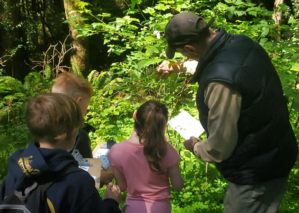 teaching children in nature